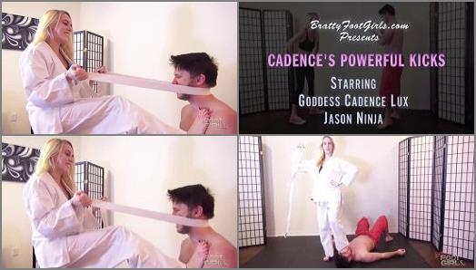 Bratty Foot Girls  Cadence Lethal Humiliating Kicks   Cadence Lux  preview