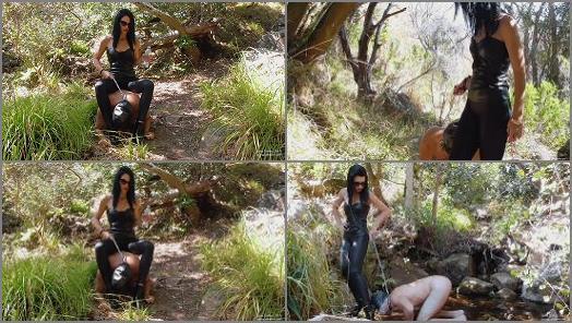Fem Dom – Young Goddess Kim – Woodlands slave Trail