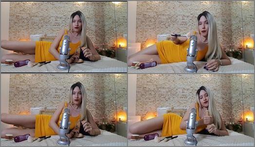 Femdom – Goddess Natalie starring in video 'Bedtime ASMR JOI before chastity'