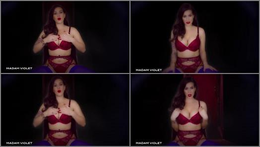 Big tits mistress Madam Violet solo JOI POV porn