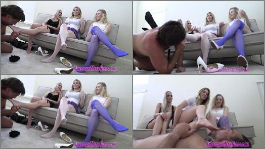 THE MEAN GIRLS  Our Foot Freak Slave   Princess Amber Goddess Maci and Goddess Platinum  preview