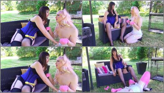 Outdoors – The English Mansion – Pretty Pet Play – Part 2 –  Miss Vivienne lAmour