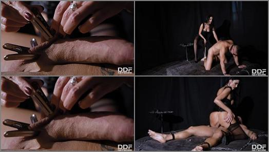 Collar – Dorian Del Isla, Ania Kinski starring in video 'BDSM Chamber of Humiliation'  of  'House Of Taboo' studio