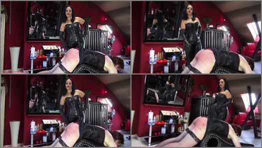 Female Domination – Ezada Sinn starring in video '100 canes for the sissy: Mistress Ezada training Her sissy slave to take caning for Her pleasure'