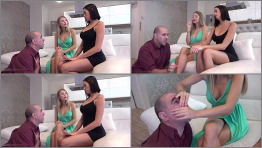 Hand Worship – GABRIELLA And REA starring in video 'The Golddiggers – EXTREME Hand Domination And Financial Domination' of 'GODDESS GABRIELLA Official' studio