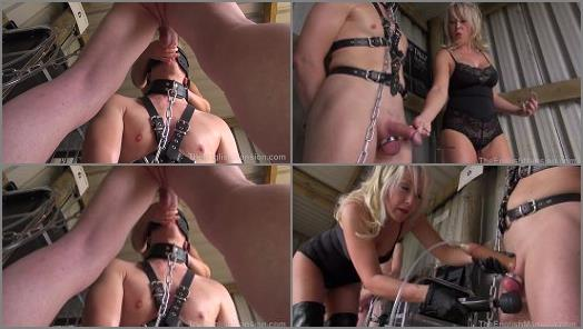 Keyholder – Goddess Zena starring in video 'The Milking Shed – Complete Movie' of 'The English Mansion' studio