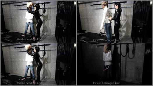 K2s.cc – Hinako Bondage Clinic – Stoic Man in PVC Straitjacket Gets Vibed But Doesn't Really Have Visable Reaction to it