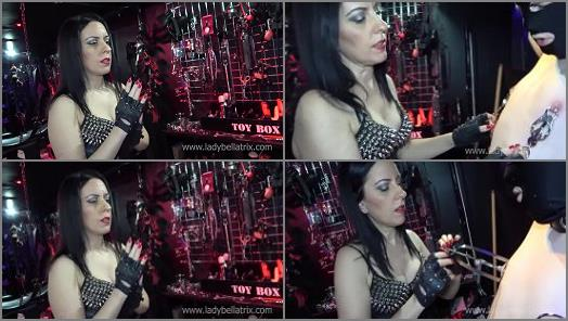 Female Domination – Lady Bellatrix starring in video 'Painful Contrition for His Confessions' of 'Queen of Mean' studio