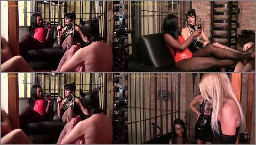 Lady Sahara Carmen Rivera Lady Natalie Black Slave DD starring in video ABSOLUTE FEMDOM 6 of 9 of Carmen Rivera studio preview