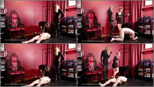 Mistress Tess Uk Clip Store 2020 – Mistress Tess and Mistress Scarlet starring in video 'I think We've broken him' of 'Mistress Tess UK Clip Store' studio