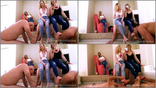 The Mean Girls  Young Hot Foot Worship   Goddess Platinum Goddess Maci and Princess Amber  preview