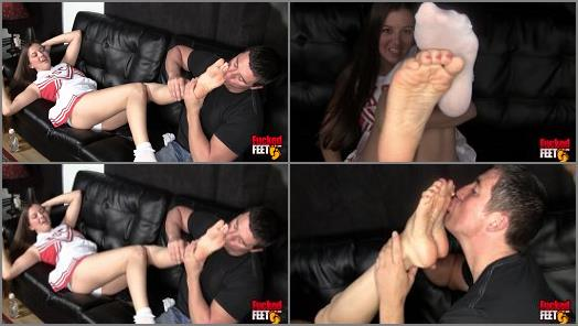 Female Domination – Becky starring in video 'A Hall of Fame Foot Girl' of 'Fucked Feet' studio