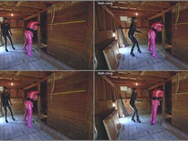 Femdom Bondage - Stella Liberty in video 'Candi Cumdump's Barn Punishment at the Liberty Slavestead'