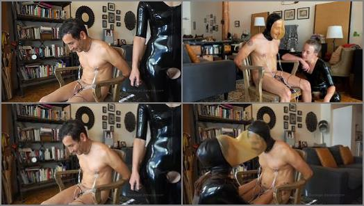 Online – 'Tunnel Vision – Kino Payne and Elise Graves – Kino Gets the Single and DOUBLE Rebreather Hood Treatment! – Latex – Electro CBT – Orgasm' of 'Elise Graves Bondage Liberation' studio