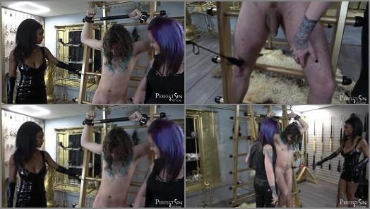 Lady Wolf and Goddess Valkyrie starring in video Sniveling Excuse of a Man of Perfect Sin studio preview