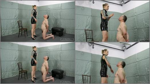 Mistress Jenna starring in video Red marks on his face of CRUEL MISTRESSES studio preview