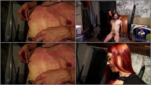 Mistress Torture Slave Hand over Mouth Handjobs Cumshot Hot Wax Wartenberg Whipping FemDom preview