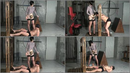 Pegging – A Discipline Chamber Exclusively for Training Toilet Slaves Specializing in Brown Shower for Two Male slaves and One Female Slave Part 3