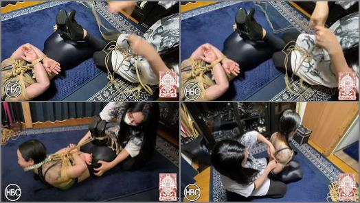 Nylon – HBC X TBL; Mistress Chiaki Gags and Hogties Lady Hinako in Rope and Tickles Her