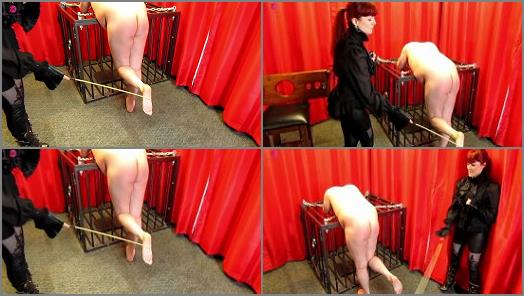 Whipping – Miss Kitty Bliss starring in video 'Bastinado For Muddy Shoes'