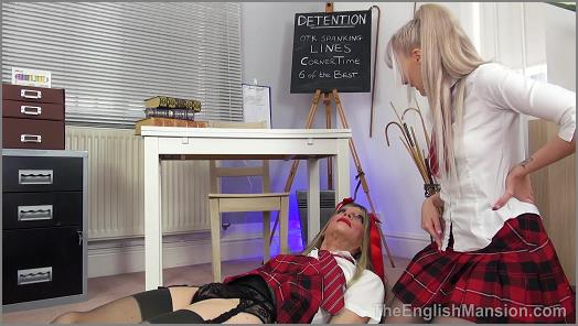 Femdom Spanking – Princess Aurora starring in video 'Detention Discipline Pt1 – Part 3' of 'The English Mansion' studio