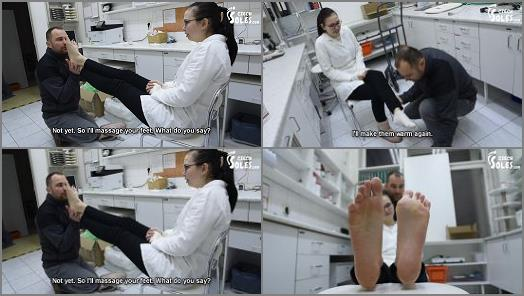 Czech Soles  Dita Jack  Stalker worships big bare feet of one cute pharmacist preview