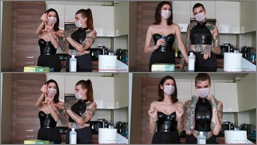 Miss Melisande Sin Dominatrix Katharina starring in video How to Sanitize your Hands preview
