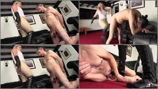 Mistress Frankie 2021 – Mistress Frankie starring in video 'Ballbusted Stablehand' of 'Ball Busting World' studio