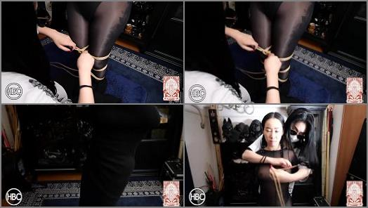 TBL X HBC Lady Hinako Vibed While Spread Leg Suspended in Leather by Mistress Chiaki preview