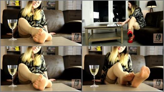 Dame Olga  Shoeplay  Showing Nylon Feet And Soles preview