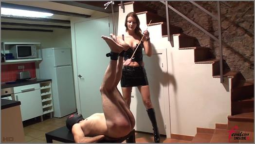Femdom Insider  Mistress Nataly  Caning Hanged by Feet preview