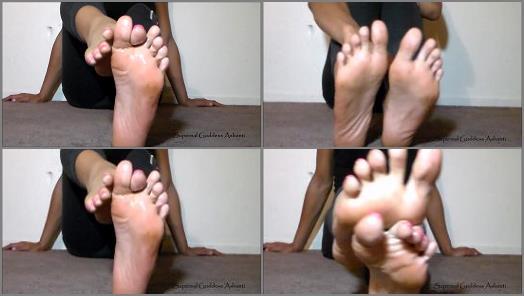 Toes – Goddess Ashanti – Oiled Feet Jerk Off Countdown