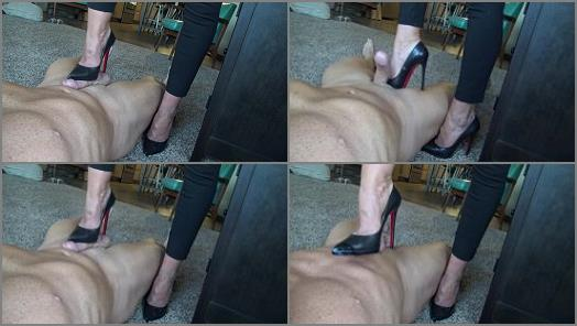 Goddess Zephy Louboutin shoe job with CBT preview