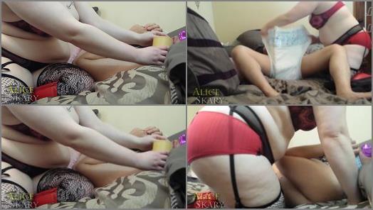 Diaper Fetish – Goddex Alice Skary staring in video 'Tickled, Diapered & Locked in Plastic Pants – Coerced Wetting'