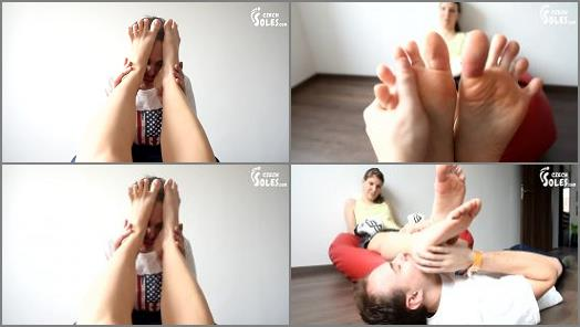 Kickbox Students Smelly Feet Worship of Czech Soles studio preview