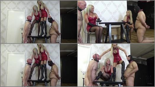 Ladydarkangeluk -   'Mean double cock torment' of 'Lady Dark Angel UK' studio