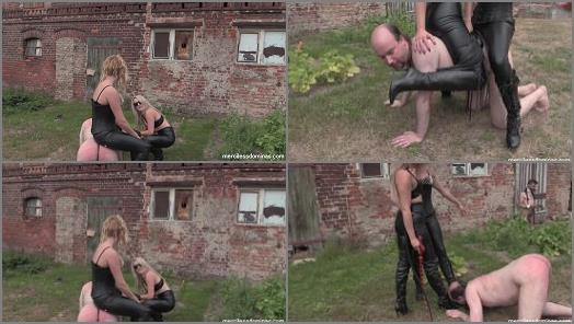 Merciless Dominas online Miss Maxwell Miss Courtney Outdoor English Lesson preview