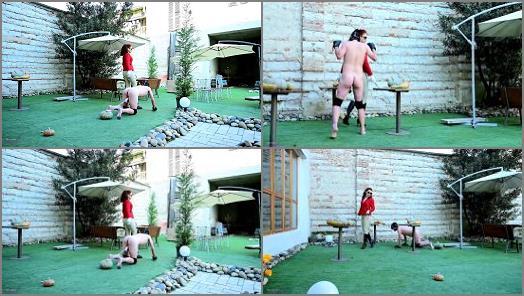 Ball Weights – Mistress Lady Renee starring in video 'Pumpkin balls'