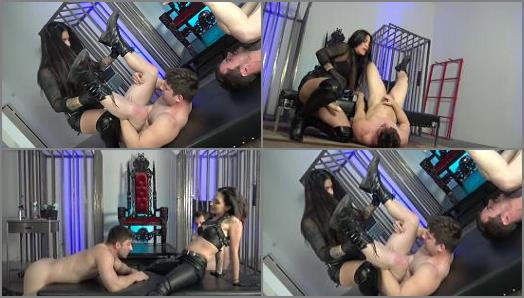 Strap-on – Cybill Troy FemDom Anti-Sex League – Sadistic Leather Spitroast –  Mistresses Cybill Troy and Eva Cruz