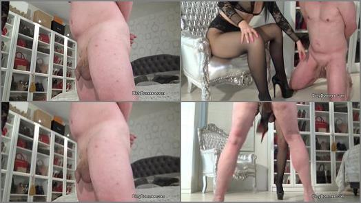 Ballbusting – Dirty Dommes – Ballbusted Shoe Slave –  Fetish Liza