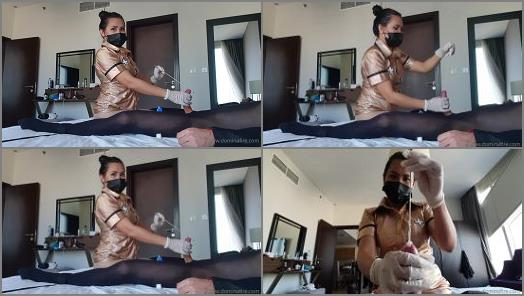 Download – Domina Fire – Gold nurse Part 2 CBT Time to stretch that peehole