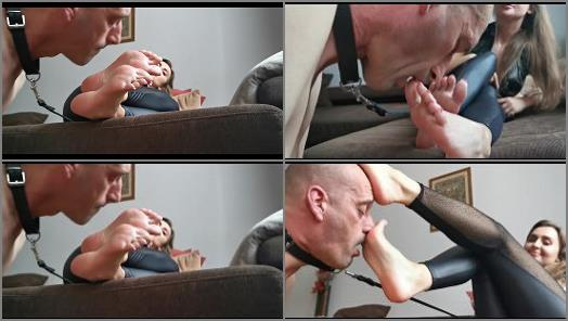 Goddess Lena starring in video Foot servant  worship my feet preview