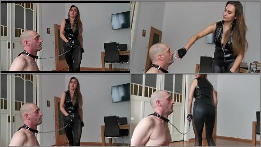 Face Slapping – Goddess Lena starring in video 'Kicking and slapping'