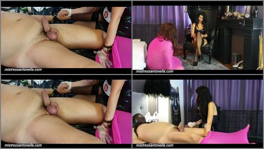 Femdom Tube – Mistress Antonella – Eggs torture with Needles and champagne