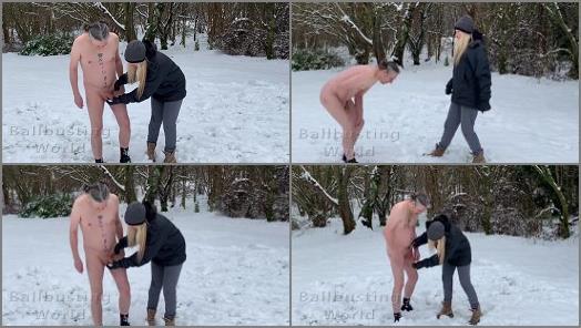 Femdom – Ballbusting World PPV – Snowballs 2021 – Ballbusted in the snow by Nikki Whiplash