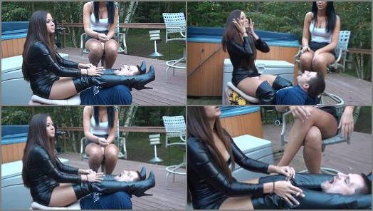 Human Ashtray – Brat Princess 2 – Christina and Lexi – Human Ash Tray used Fully