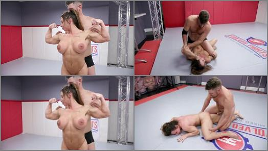 Watched – Evolved Fights – Muscle Woman vs. Muscle Man Winner Fucks Loser –  Brandi Mae