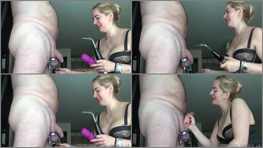 Keep2share – Mistress Sandra starring in video 'CBT With Violet Wand Sounding'