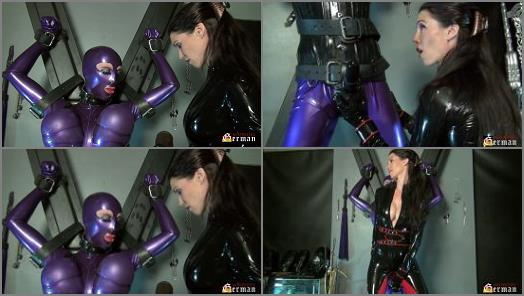 Transformation – Mistress Susi s Fetish Clips – Rubberdoll Natalie Goth teased on the Cross