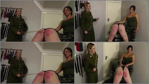 Perfect caning domination to ass with blood